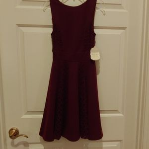 Altar'd State fit and flare dress in merlot